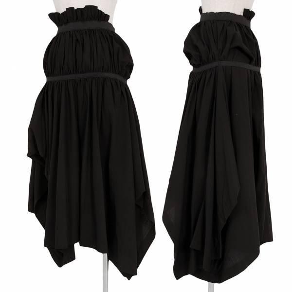 コムデギャルソンCOME des GARCONS ウールギャザー変形スカート 黒M【中古】:PLAYFUL