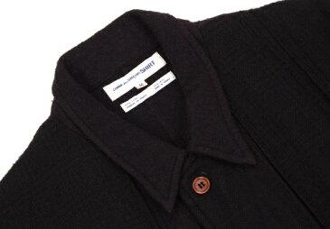 コムデギャルソンシャツCOMME des GARCONS SHIRT ウール切替デザインハーフコート 濃茶M【中古】