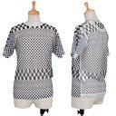 【SALE】コムデギャルソンCOMME des GARCONS ポリドットプリントシースルーTシャツ 黒白M位【レディース】