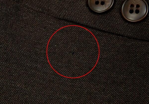 茶38/36 アツロウタヤマATSURO 【レディース】 【中古】 TAYAMA ウール切替デカボタンセットアップスーツ
