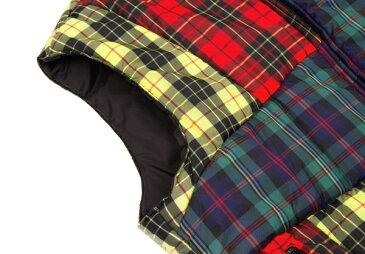 コムデギャルソンシャツCOMME des GARCONS SHIRT クレイジーチェック中綿ベスト マルチS【中古】