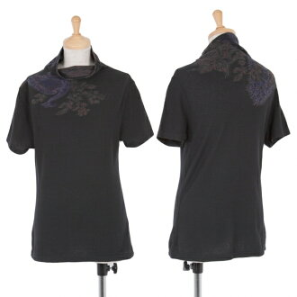 isseimiyakehato ISSEY MIYAKE HaaT花紋刺綉高領T恤黑黄褐色紫色其他2