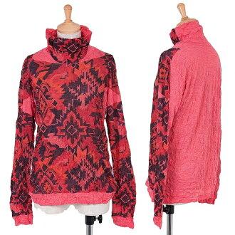 isseimiyakemi ISSEY MIYAKE me圖像產品印刷皺加工針織紅黑M