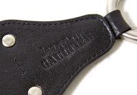新品!ジャンポールゴルチエJeanPaulGAULTIERメタルリングレザーキーホルダー黒