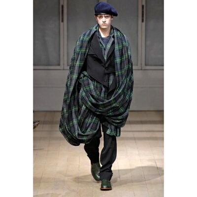 ヨウジヤマモト プールオムYohji Yamamoto POUR HOMME 混紡ウールスーパーロングストールデザインラップスカート