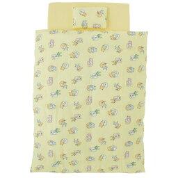 【送料無料】フジキ アニマルグラス 洗える布団10点セット シトラスイエロー