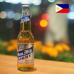 【世界の瓶ビール】 サンミグライト (サンミゲル ライト) 330ml/5% 1ケース(24本)  [...