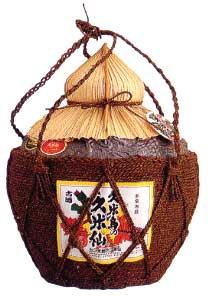 [泡盛] 久米島の久米仙 棕櫚巻(しゅろまき) 壷入り 古酒43度 5升