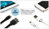正規品ColorantFlatCable【レビュー送料無料】iphoneipadipadminiipod充電ケーブルケーブル1.5mMFI認証C48規格フラットケーブル