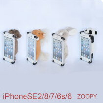 ZOOPY【送料無料】【iPhone766sケースクマパンダウサギウマ】ズーピー【iphone7ケースかわいい】ぬいぐるみカバーアイフォンスマホアイホン