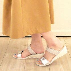 【laverita】9-2290歩きやすい4.5cmウェッジソール/クッションインソール