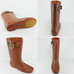 【プリーズ・アーチ】15-9839まるで本物の革靴のように見える完全防水のレインブーツです。