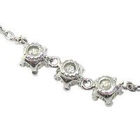 4月誕生石・ブレスレット・K18・トリロジー・王冠・ダイヤモンド・アンクレット