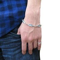 【送料無料】ダイヤモンド・百合の紋章・ブレスレット・シルバー・唐草・メンズ【_包装】【RCP】10P06May14