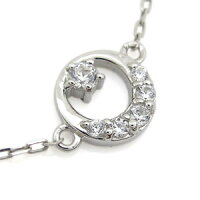 【送料無料】ダイヤモンドプラチナネックレスダイヤモンド月プチペンダント【RCP】10P07Nov15