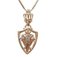 【送料無料】クロスネックレス・メンズ・ネックレス・王冠・10金・ダイヤモンド【RCP】10P27May16