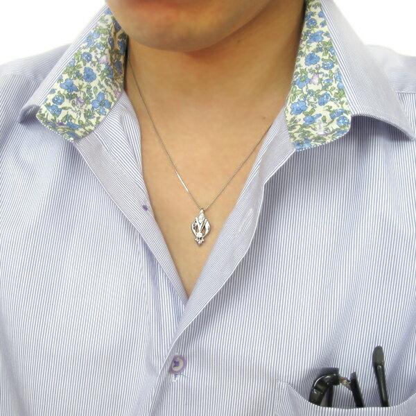 プラチナ ダイヤモンド メンズネックレス アローペンダント