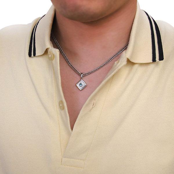 ネックレス トップ プラチナ メンズ ペンダントヘッド シンプル 誕生石