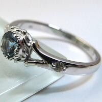 【送料無料】アクアマリン・リング・18金・シンプル・エンゲージリング・婚約指輪【RCP】10P04Jul15