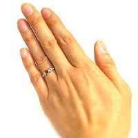 婚約指輪・18金・リング・ガーネット・エンゲージリング