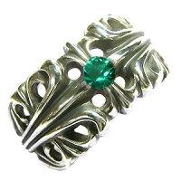 5月誕生石翡翠・エメラルド・シルバー・リング・メンズ・指輪