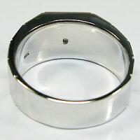 10金・ガーネットリング・地金・メンズリング・指輪・印台・リング