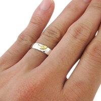 【送料無料】マリッジリング・ペアリング・コンビ・月・リング・K18・指輪【_名入れ】【RCP】