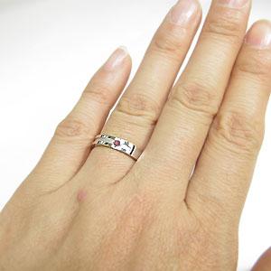 【10%OFF】11日1:59迄 結婚指輪・ピンクトルマリン・リング・クロスリング・k18ゴールド・マリッジリング