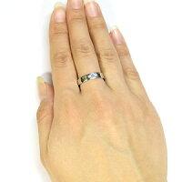 プラチナ・サンタマリア・アクアマリン・リング・クロスリング・結婚指輪