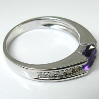 アメジストリング・K18・一粒・指輪