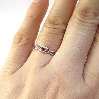 指輪・ルビー・一粒・シンプル・K18・リング