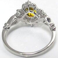 シトリン・リング・アンティーク・一粒・指輪・K18