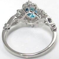 ブルートパーズ・リング・アンティーク・一粒・指輪・K18