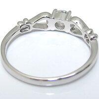 K18・ダイヤモンド・エンゲージリング・一粒・婚約指輪・ハート