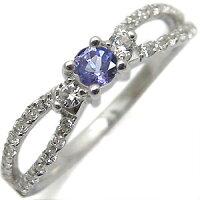 K18・タンザナイト・リング・アンティーク・ダイアモンド・指輪