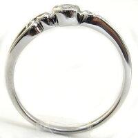 指輪・18金・シンプル・リング・ダイヤモンド・一粒・K18・ダイアモンドリング