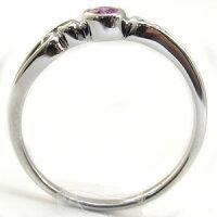 ピンクサファイヤ・リング・K10・一粒・シンプル・10金・指輪