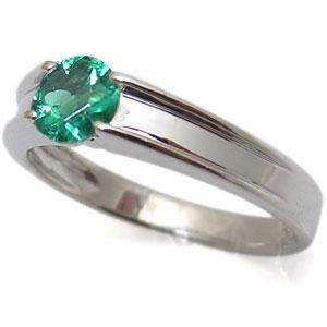 指輪・エメラルドリング・一粒・シンプル・18金・リング