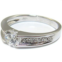 【送料無料】ダイヤモンド・エンゲージリング・10金・大粒・リング・婚約指輪【_包装】【RCP】