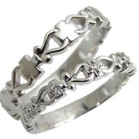 【送料無料】結婚指輪・クロスリング・プラチナ・リング・ペアリング・ダイヤモンド・マリッジリング【_包装】