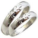 マリッジリング・ペアリング・百合の紋章・鏡面仕上げ・プラチナ・リング・結婚指輪