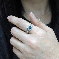 【送料無料】プラチナ・ブルートパーズ・リング・大粒・リング・指輪【_包装】【RCP】