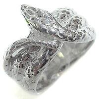 【送料無料】スネーク・リング・ペリドット・10金・ヘビ・蛇・指輪【_包装】【RCP】