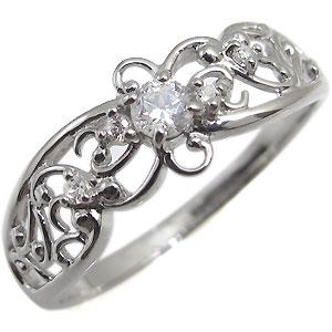 プラチナ・リング・一粒・指輪・ダイヤモンド