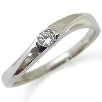 【送料無料】プラチナ・指輪・ダイヤモンド・リング・一粒【_名入れ】【RCP】