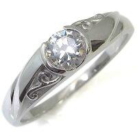 【送料無料】ダイヤモンド・リング・18金・唐草・アラベスク・婚約指輪・エンゲージリング・指輪【_名入れ】【RCP】