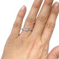 【送料無料】18金・指輪・一粒・ピンキーリング・リボン・タンザナイト・リング【_名入れ】【RCP】