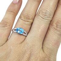 【送料無料】プラチナ・ブルートパーズ・リング・大粒・指輪・11月誕生石【_名入れ】【RCP】