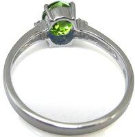 【送料無料】8月誕生石・ペリドット・指輪・大粒・リング・一粒・18金【_名入れ】【RCP】
