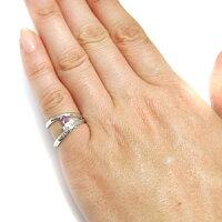 【送料無料】プラチナ・指輪・ピンキーリング・一粒・ピンクトルマリン・リング【_包装】【RCP】